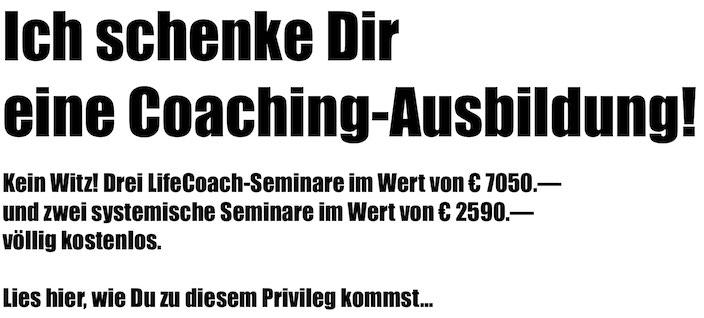 Gratis Coaching-Ausbildung